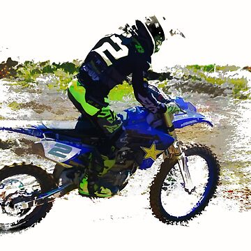 Revelstoke Motocross Sports Art by RavenPrints