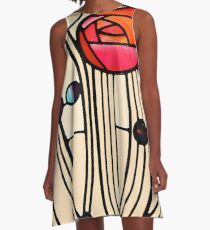 Charles Rennie Mackintosh - Window A-Line Dress