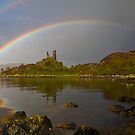 rainbow over ruins by Ty Cooper
