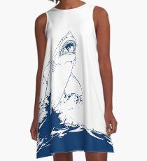 Landshark Dress | Rebel Blue A-Line Dress