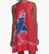 Landshark Dress | Red and Blue A-Line Dress