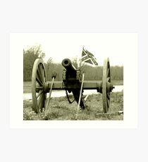 Civil War Canon Art Print