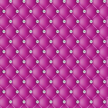 Elegant Fuschia Pink Diamond Tufted Look Upholstery Pattern by jollypockets