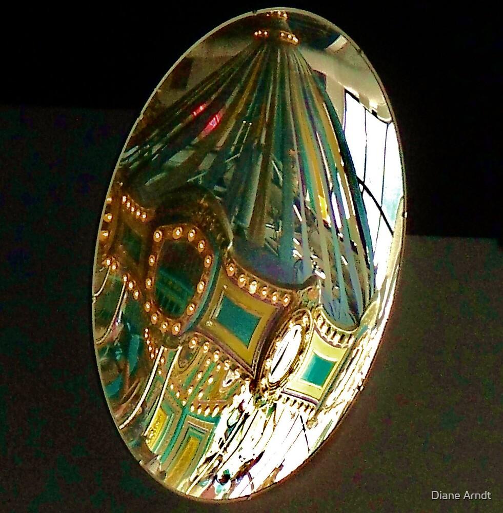 Merry Go Round reflection in a mirror by Diane Arndt
