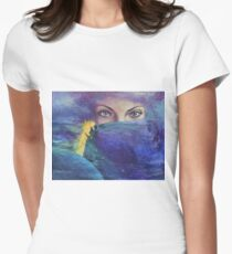 """...and the past it's just the beginning...from """"Impossible love"""" series Women's Fitted T-Shirt"""