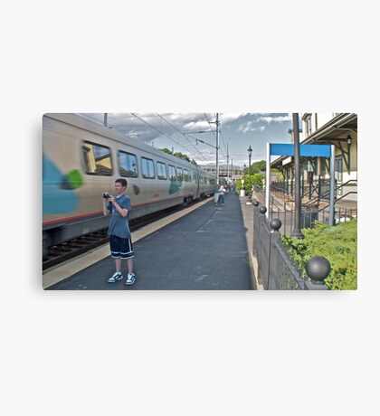 """Train Buffs"" - Acela Express by Kingston © 2009 AUG Canvas Print"