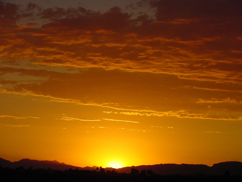setting sun by Sherry Laird