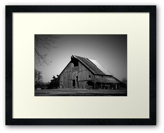 Black and White Barn by Richard Skoropat