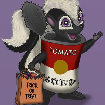Halloween skunk by Tarajillian