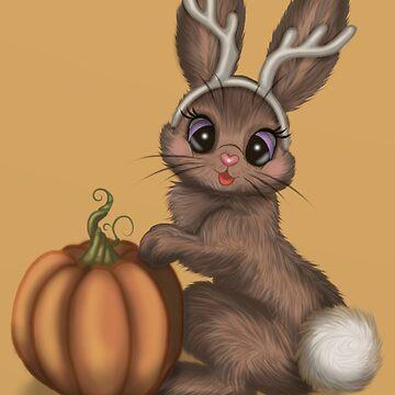 Halloween Jackalope by Tarajillian