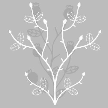 The Creeping Flower in Ice Gray by thepinecones