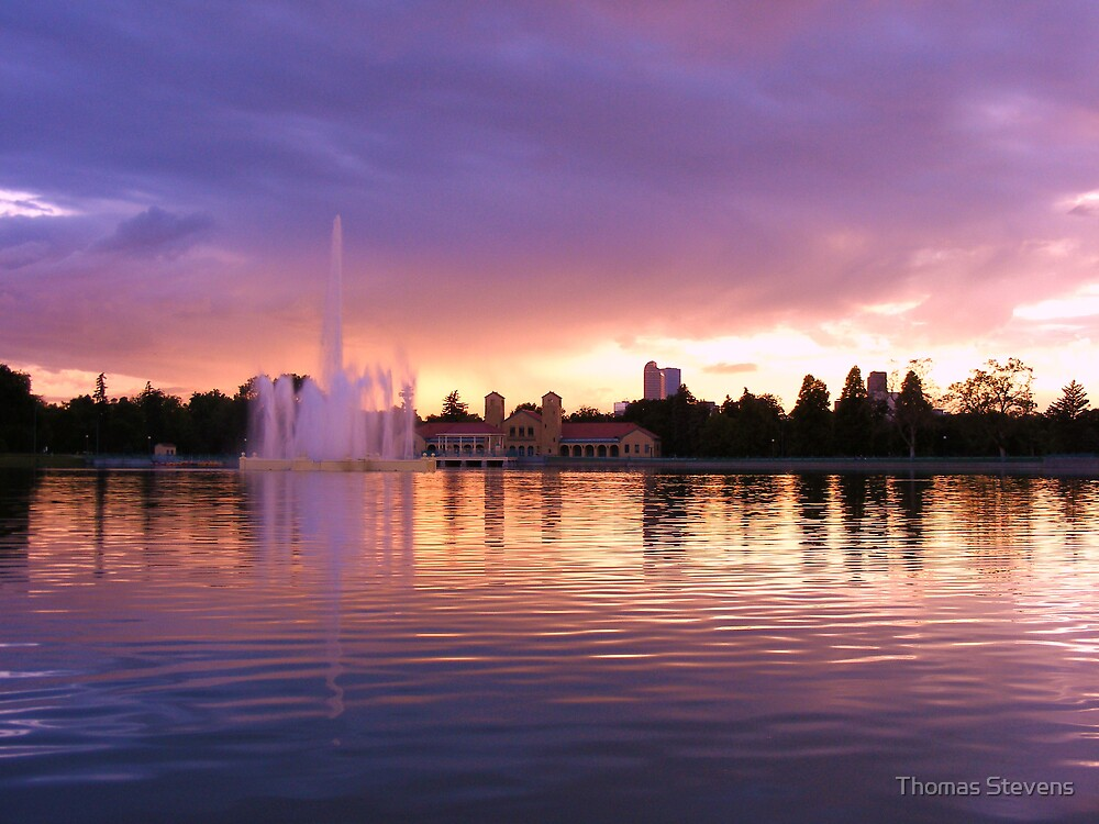 City Park Sunset by Thomas Stevens
