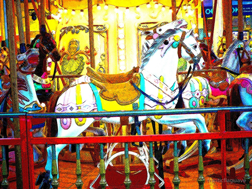 "'Carousel Horsey"" by franticflagwave"