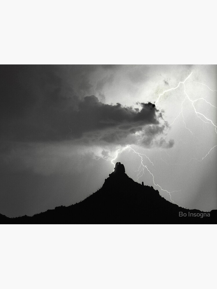 Lightning Striking Pinnacle Peak by mrbo