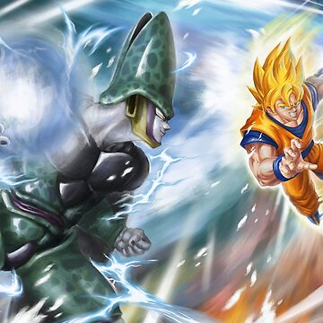 Goku VS Cell by GrizzlyGoods