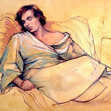 Portrait of Lucy sleeping by rozmcq