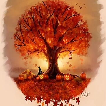 Autumn Tree, Fall Tree, October Leaves, Fall Season by EarthlyIndigo