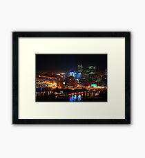 Pittsburgh Pennsylvania by night Framed Print