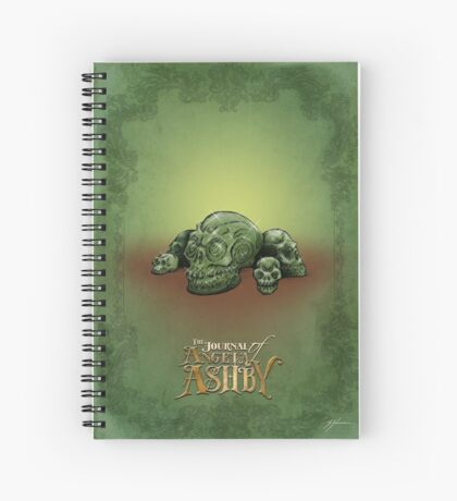 The Journal of Angela Ashby - Malachite Skulls Spiral Notebook