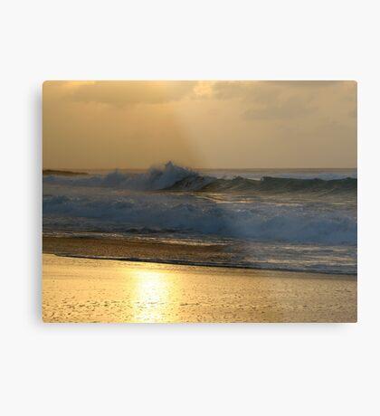 Sunset Wave Metal Print