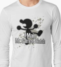 I Main Mr. Game & Watch - Super Smash Bros. Long Sleeve T-Shirt