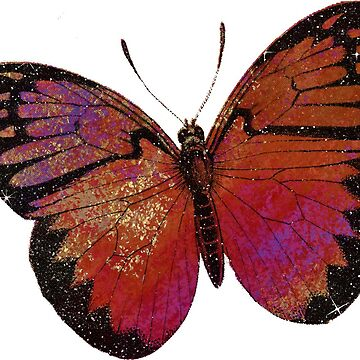 Sparkly Red Butterfly  by EarthlyIndigo