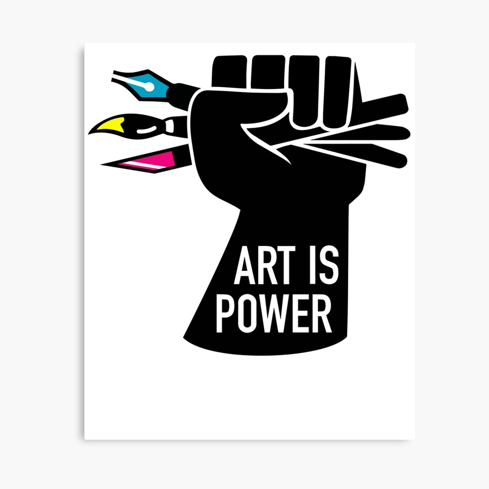 Art is Power Canvas Print