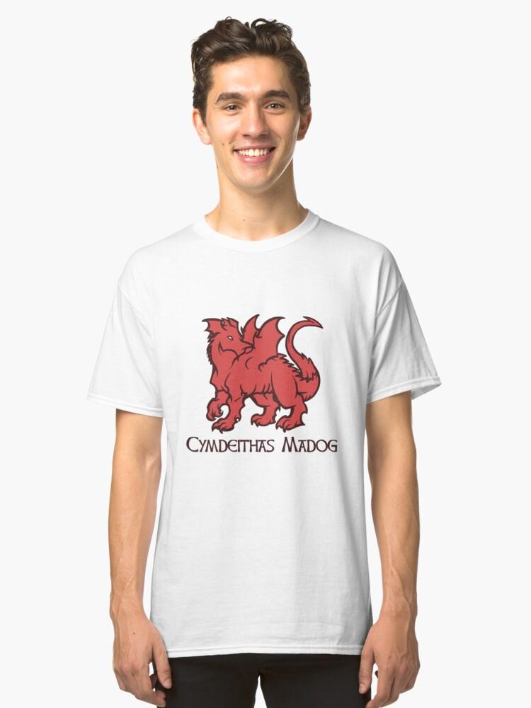 Draig Cymdeithas Madog  Classic T-Shirt Front