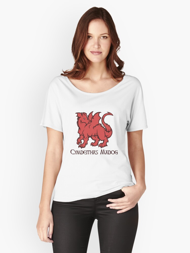 Draig Cymdeithas Madog  Women's Relaxed Fit T-Shirt Front