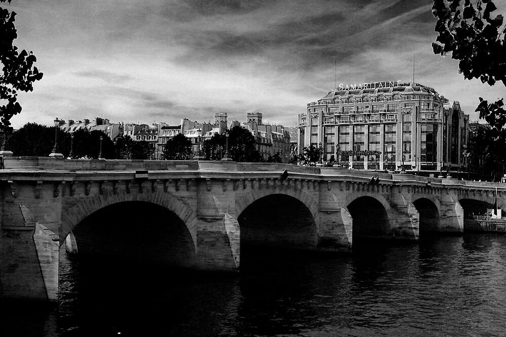 black and white bridge by alineB