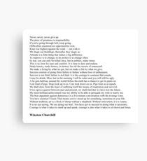 Winston Churchill Quotes Canvas Print