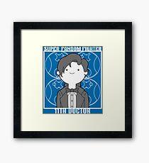 Super Fandom Fighter - 11th Doctor Framed Print