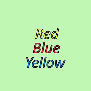 Red Blue Yellow by nnerce
