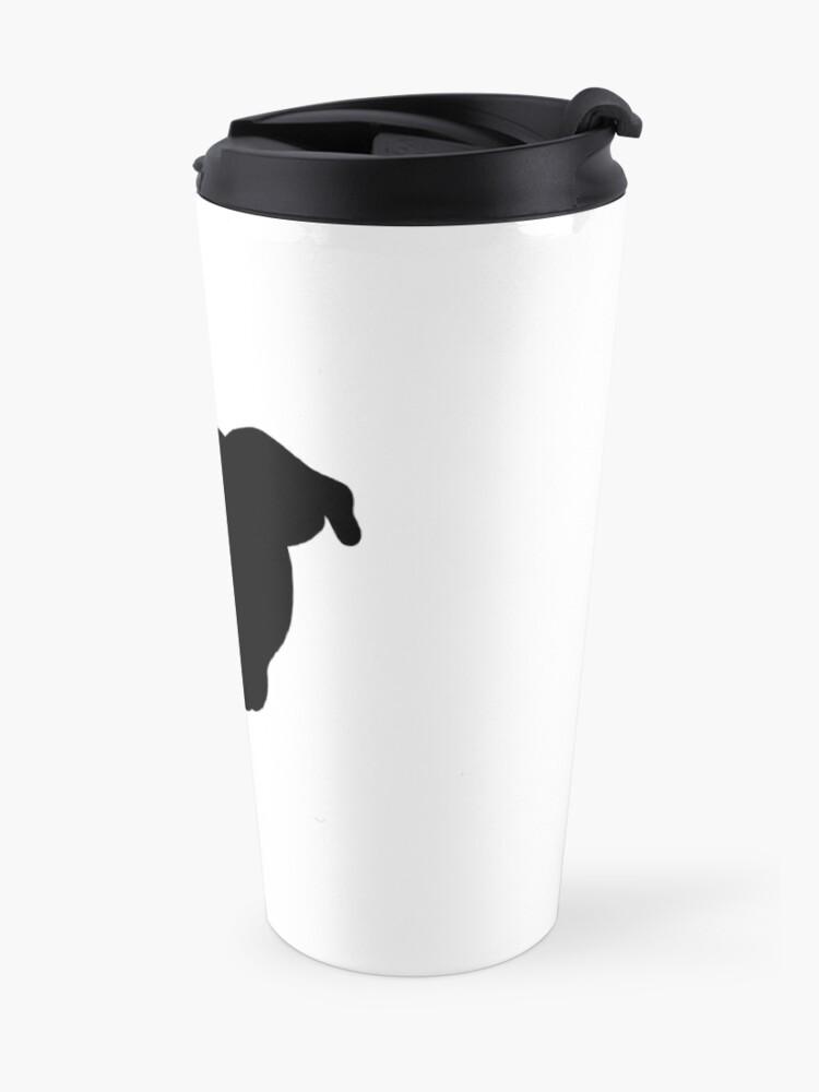 Alternate view of Black Pittie Travel Mug