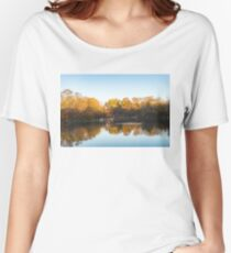 Autumn Mirror - Silky Wavelets Caused by Ducks Women's Relaxed Fit T-Shirt