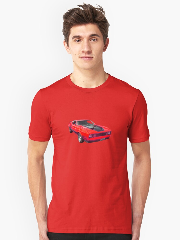 red car Unisex T-Shirt Front