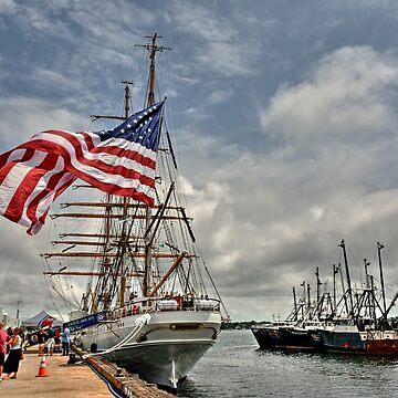 Dramatic scene of the Eagle - Coast Guard Tall Ship! by Poete100