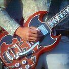 John Cipollina Picking His Guitar by Warren Paul Harris