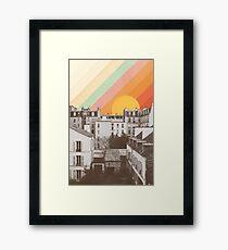 Regenbogen Himmel über Paris Gerahmtes Wandbild