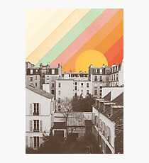 Rainbow Sky Above Paris Photographic Print