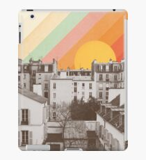Rainbow Sky Above Paris iPad Case/Skin