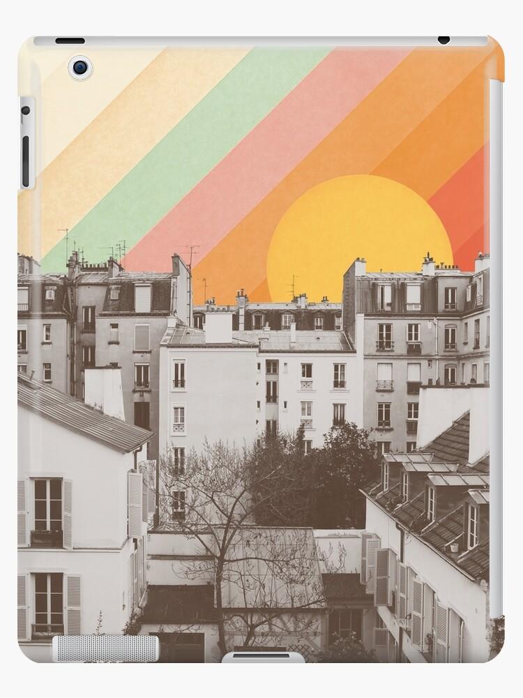 Rainbow Sky Above Paris by Florent Bodart