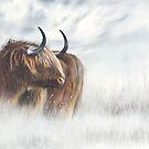 The Highlander - Scottish Highland Cow painting by Peter Williams