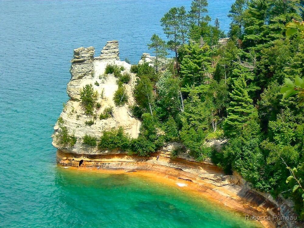 "Pictured Rocks ""Miners Castle by Rabecca Primeau"