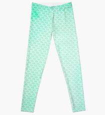 Green Mermaid Leggings Leggings