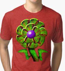 Flower Green Tri-blend T-Shirt