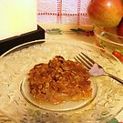 """""""A"""" is for apple crisp, made with home grown apples by Nanagahma"""