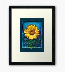 Ho'oponopono Sunflower Cleansing poster Framed Print