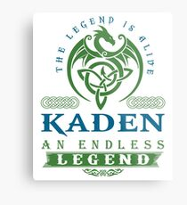 Legend T-shirt - Legend Shirt - Legend Tee - KADEN An Endless Legend Metal Print
