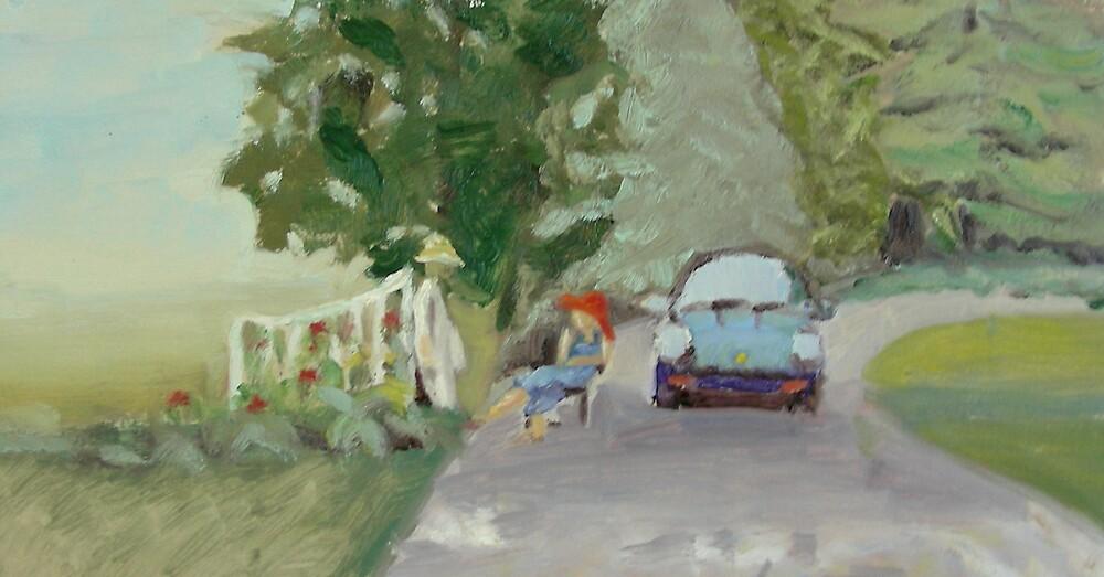 Porsche in shade by Phyllis Dixon